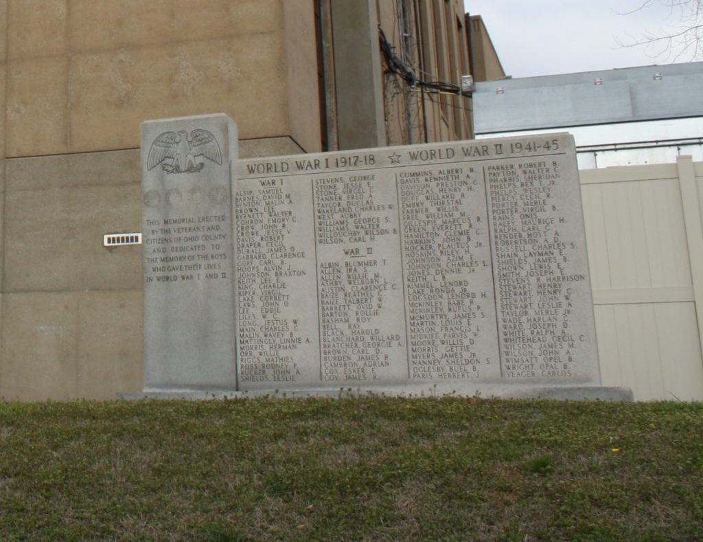 Ohio County Kentucky War Memorial in Hartford Kentucky