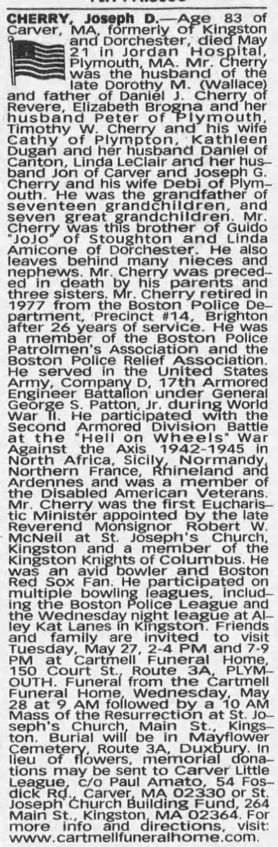 Joseph D Cherry
