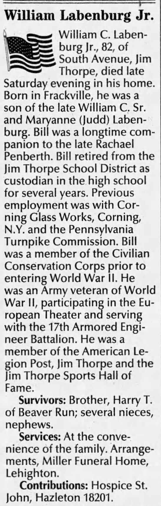 William C Labenburg The Morning Call (Allentown, Lehigh, Pennsylvania, United States of America) · 11 Oct 2004