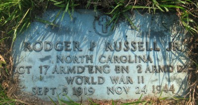 Russell, Sgt Rodger Pernell J headstone