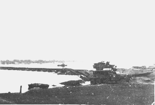 Destroyed bridge at Elbe River near Westerhusen 13 April 1945