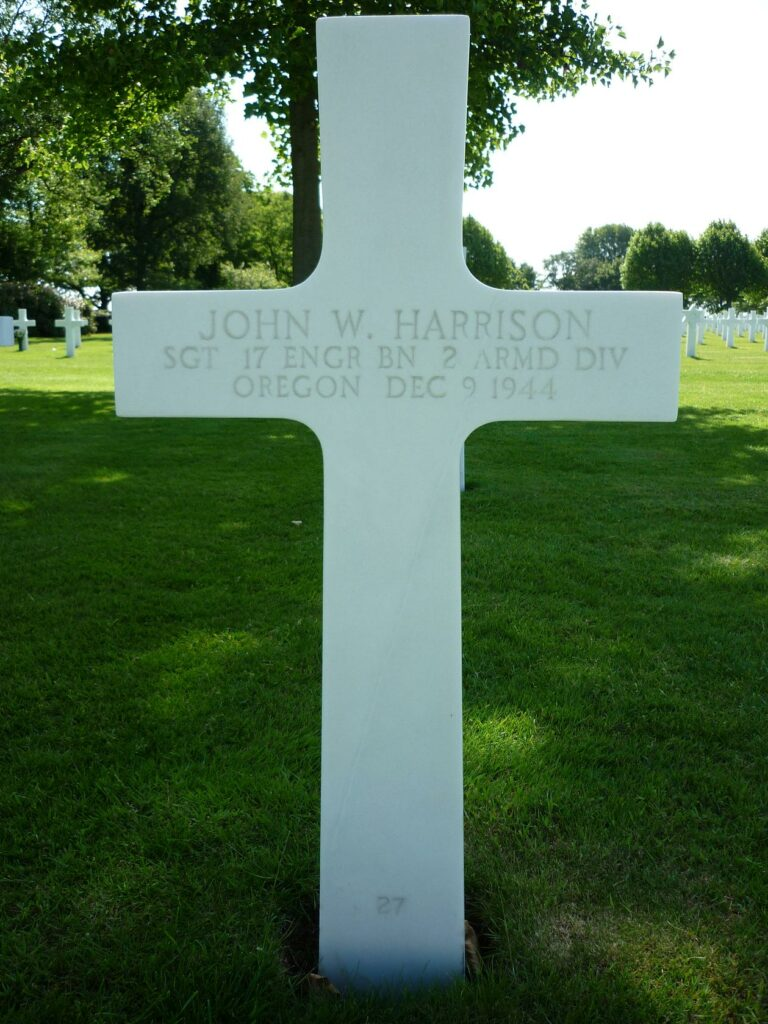 Gravestone John W Harrison