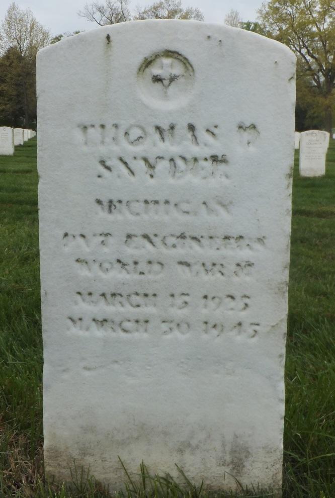 Headstone Paul F Snyder