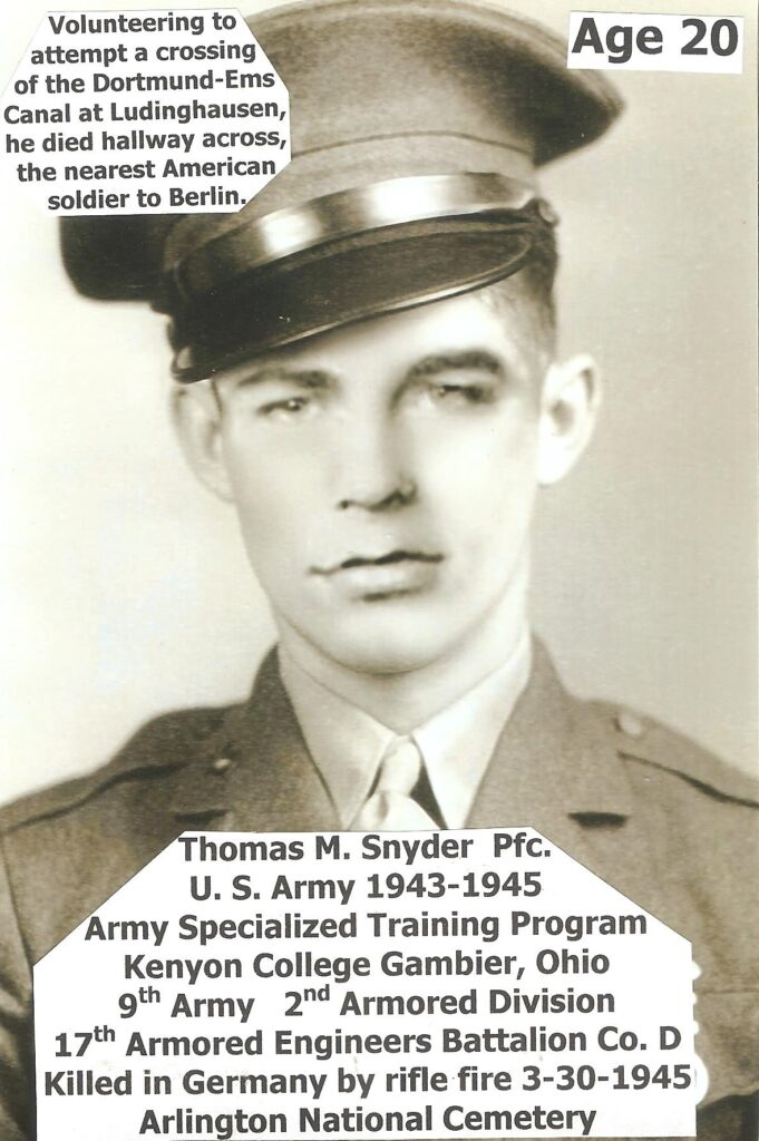 Thomas H Snyder 1925 -1945