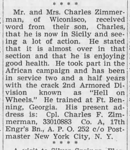 Lykens Register (Lykens, Pennsylvania)20 Aug 1943, FriPage 1