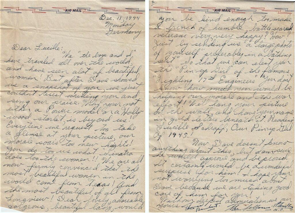 Letter 12.11.1944 (Courtesy Mark Hiett)