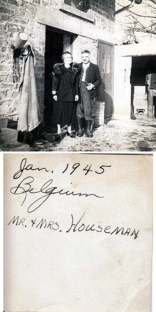 Mr and Mrs Houseman (Huisman?) Belgium, January 1945 (courtesy: M. Hiett)