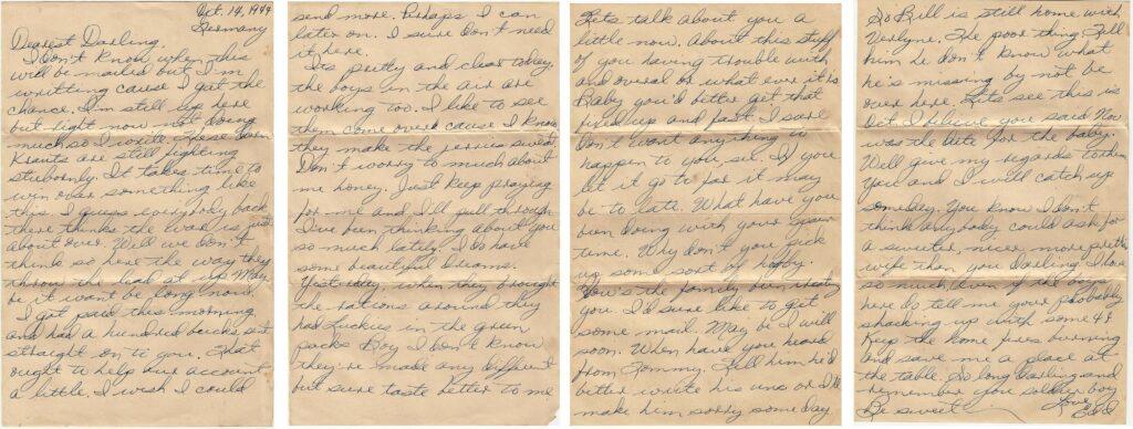Letter 10.14.1944 (CourtesyMark Hiett)