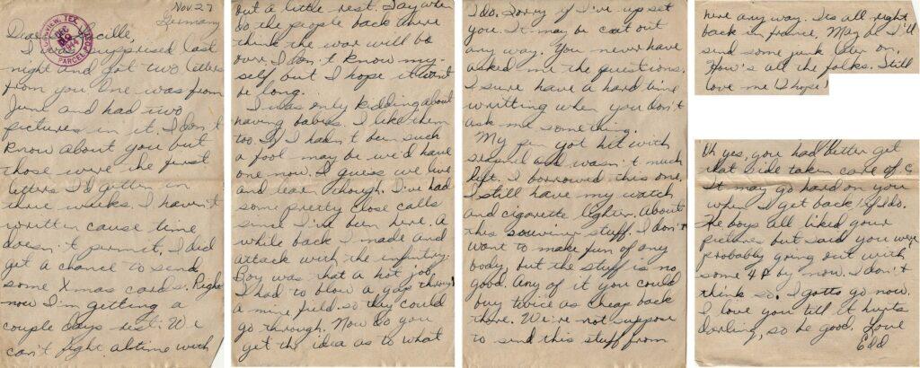 Letter 11.27.1944 (Courtesy Mark HIett)
