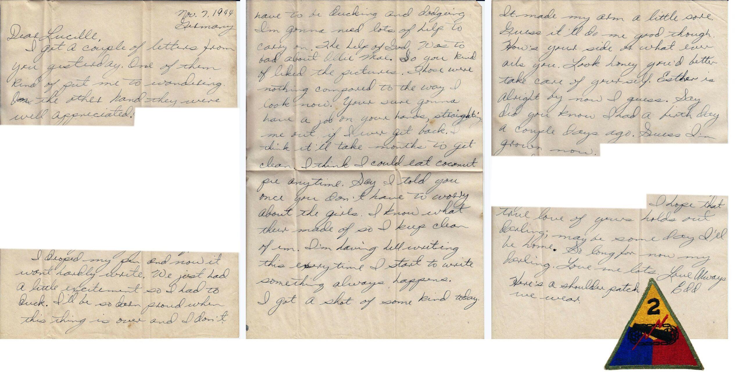 Letter 11.7.1944 (Courtesy Mark Hiett)