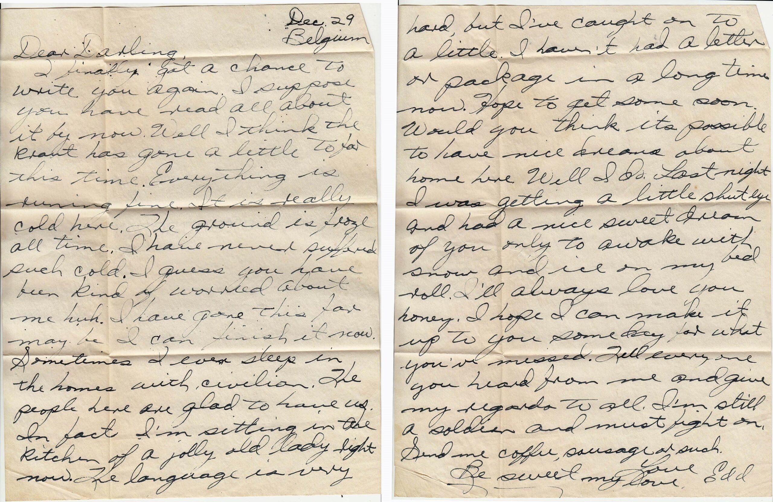 Letter 12.29.1944 (Courtesy Mark Hiett)