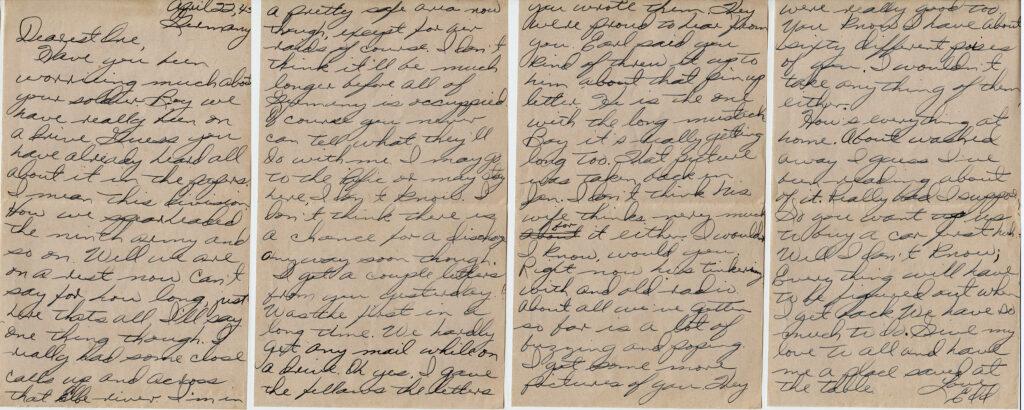 Letter 4.22.1945 (Courtesy Mark HIett)