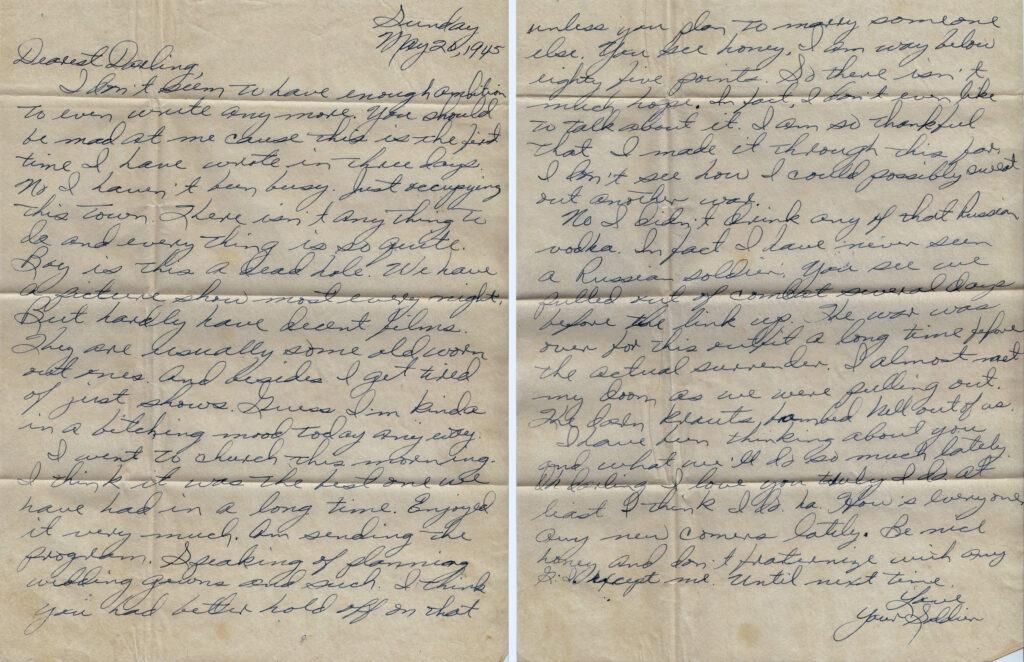 Letter 5.20.1945 (Courtesy Mark Hiett)