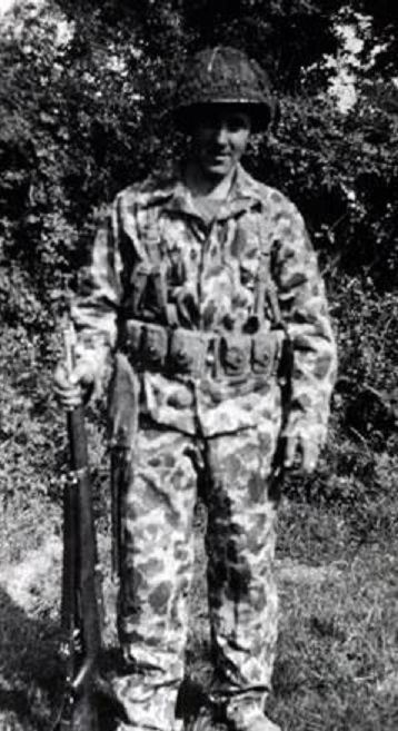 Private First Class, Kenneth C. Hanna, D Company , 17th Engineers, n Camouflage uniform