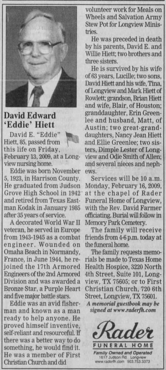 Longview News-Journal (Longview, Gregg, Texas, United States of America) · 15 Feb 2009, Sun · Page 12