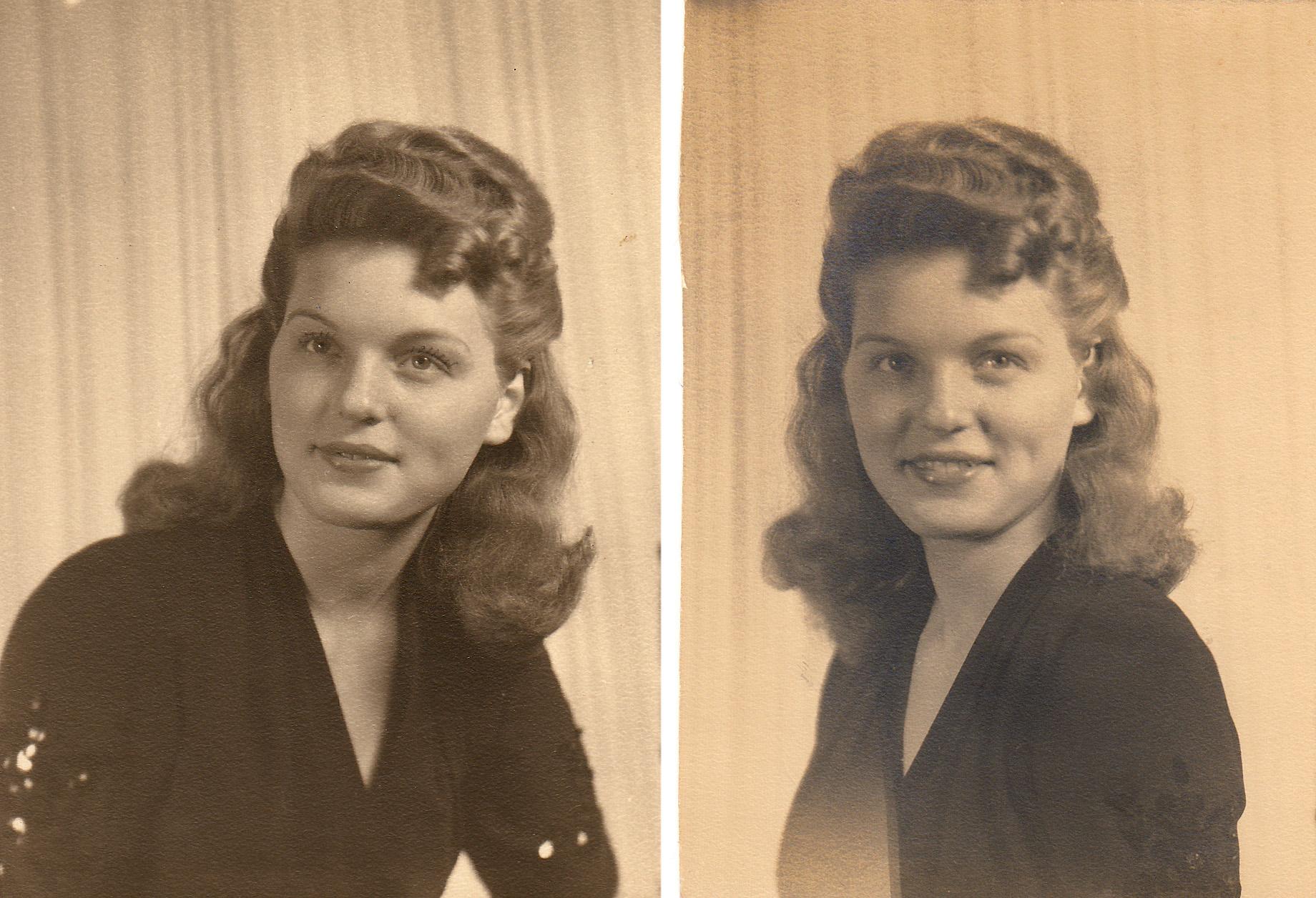 Maxine Hiett (Steed) Jan. 31, 1945 Courtesy Mark Hiett)