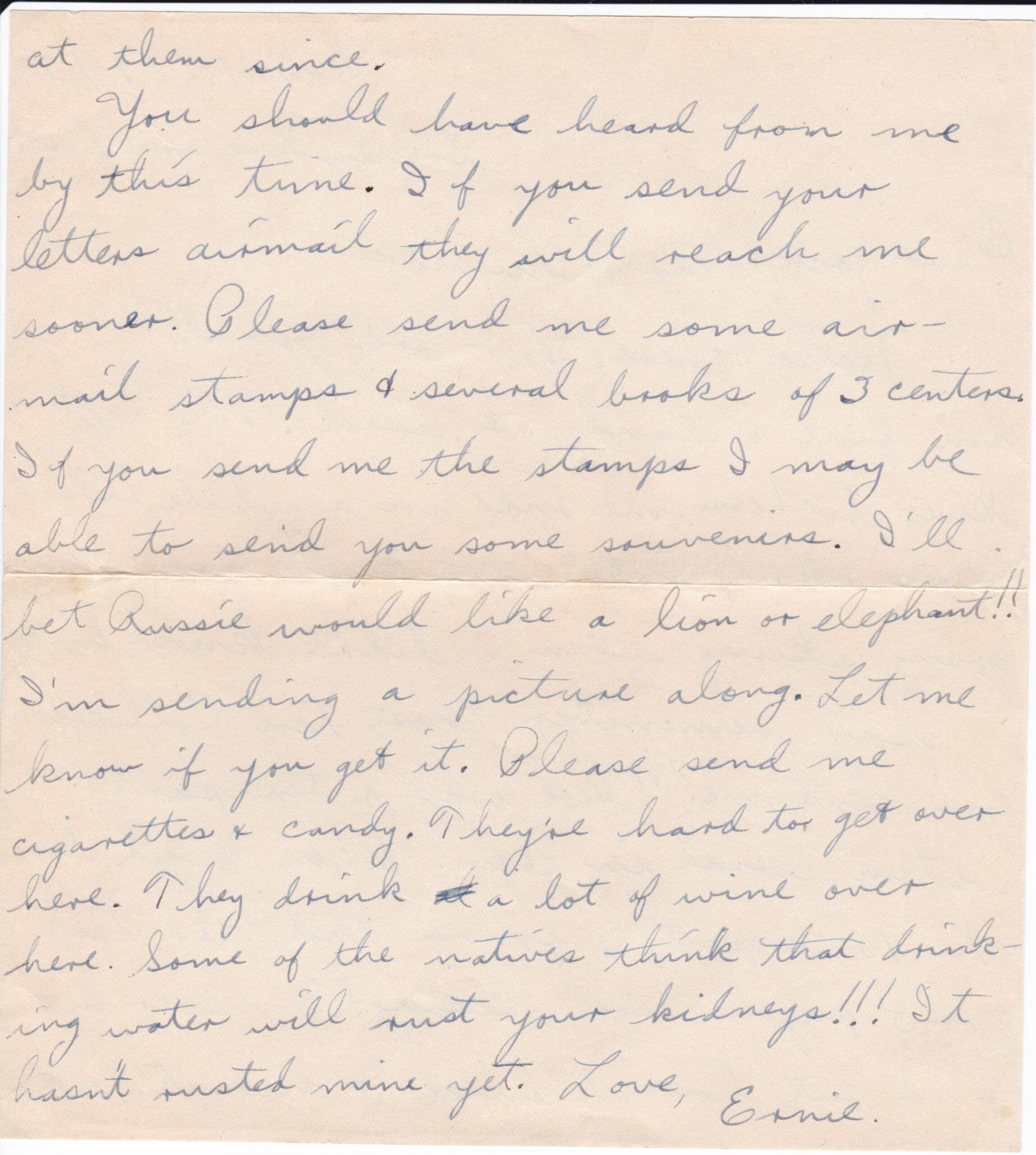 PFC William E Struble 01-14-1943