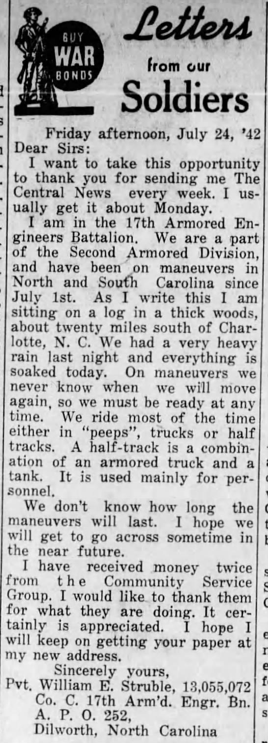 The Central News (Perkasie, Pennsylvania)30 Jul 1942, ThuPage 7 (newspaper.com)